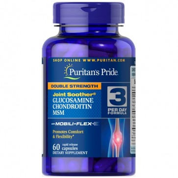Double Strength Glucosamine Chondroitin MSM (60caps) - Puritan's Pride