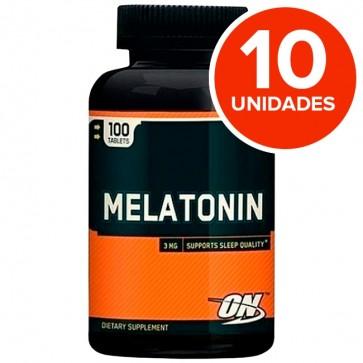 Combo 10 unidades: Melatonina 3mg (100tabs) Optimum Nutrition