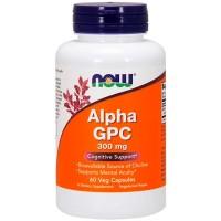 Alpha GPC 300mg (60 cápsulas) - Now Foods