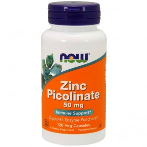 Zinc Picolinate 50mg (120 cápsulas) - Now Foods