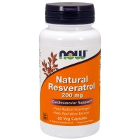 Natural Resveratrol 200mg (60 caps) - Now Foods