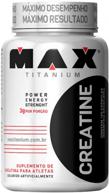 Creatina (120 cápsulas) - Max Titanium