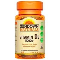 Vitamina D3 5000IU (150 Softgels) - Sundown Naturals