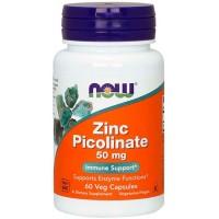 Zinc Picolinate 50mg (60 cápsulas) - Now Foods
