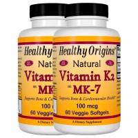 Combo: 2 Vitamina K2 Mk7 100mcg (60 caps) - Healthy Origins