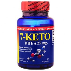 7-KETO 25mg - Earth's Creation USA  (60 cápsulas)