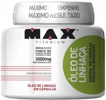 Óleo De Linhaça 1000mg - 100 Cápsulas - Max Titanium