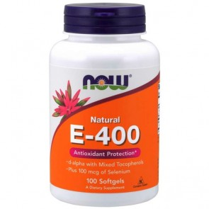 Vitamina E-400 (100 softgels) - Now Foods