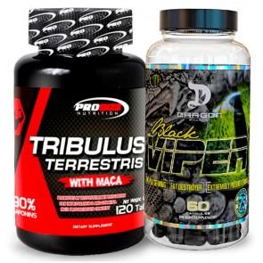 Combo: Tribulus Terrestris - Pro Size + Black Viper - Dragon Pharma