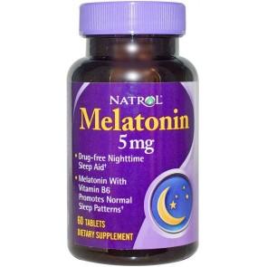 Melatonina 5mg (60 cápsulas) - Natrol