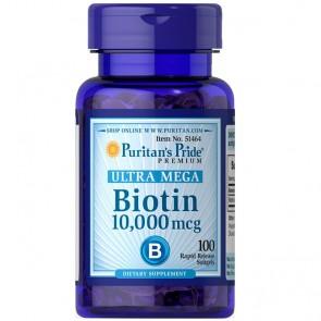 Ultra Mega Biotina 10.000mcg (100 softgels) - Puritan's Pride