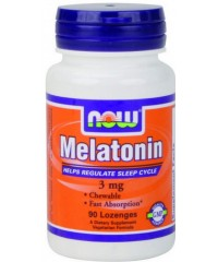 Melatonina 3mg (90 cápsulas) - Now Foods