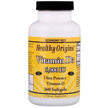 Vitamina D3 5000UI (360caps) - Healthy Origins Healthy Origins