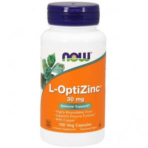 L-Optizinc 30mg (100 cápsulas) - Now Foods