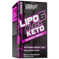 Lipo 6 Black Keto (60 cápsulas) - Nutrex