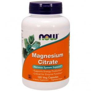 Magnesium Citrate (120 cápsulas) - Now Foods