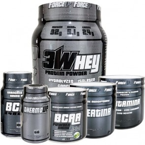 Combo: BCAA + Creatina + ThermoUP + Whey ForceUP + Glutamina + BCAA Power Drink - ForceUP
