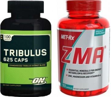 Combo Tribulus (90 cápsulas) Optimum + ZMA (90 cápsulas) Met-RX