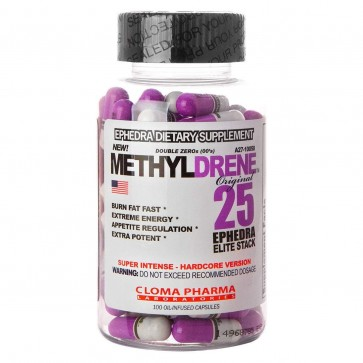Methyldrene -25 Elite - Cloma Pharma - 100 Cápsulas Cloma Pharma