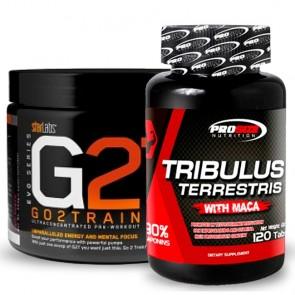 Combo: Tribulus - Pro Size + Pré-treino G2T - Star Labs