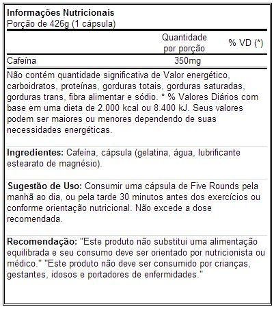 5 Rounds - Dark Cyde - Tabela Nutricional