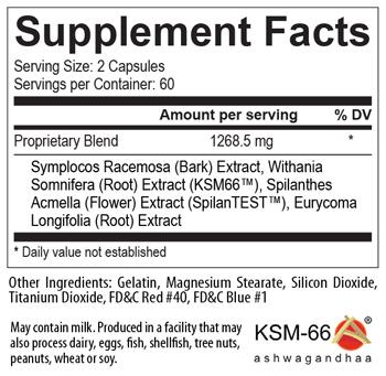 Ultimate T USPLabs - Tabela Nutricional