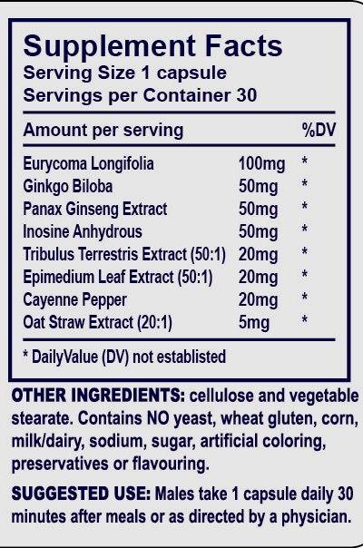 Vimax - Tabela Nutricional