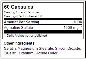 Agmatine 500 - USPLabs - Tabela Nutricional