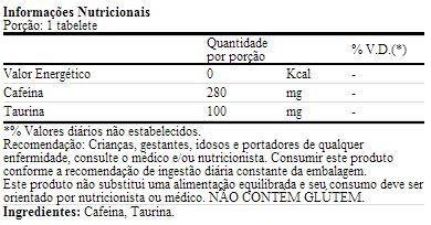 Alert 8 Hours - MHP - Tabela Nutricional