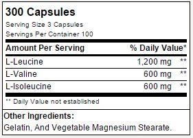 BCAA BETANCOURT - TABELA NUTRICIONAL