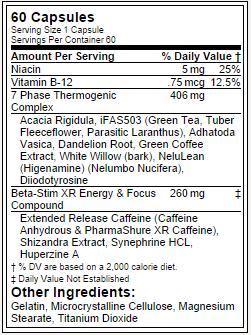 Beta-Stim - Tabela Nutricional