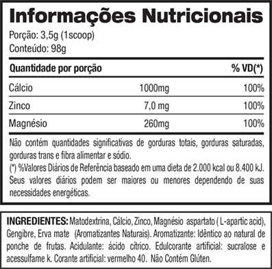Big T - Jay Cutler - Tabela Nutricional