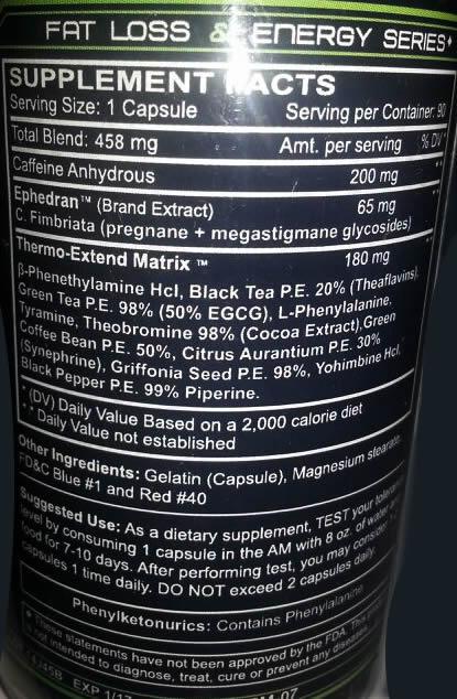 Black Mamba - Tabela Nutricional