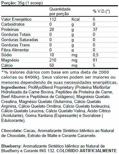 Carnibol - Tabela Nutricional