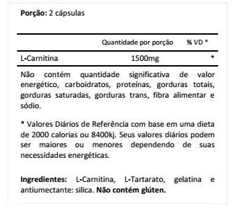 Carnitine 1500 (60 cápsulas) - MHP