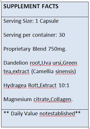 Celluvita - Tabela Nutricional