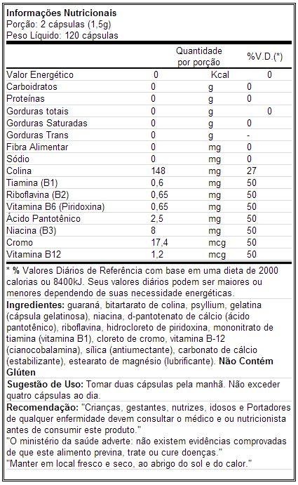 Charge - Labrada - Tabela Nutricional