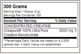Creatina Drive Black - Tabela Nutricional - Nutrex