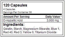 DAA3K - USPLabs - Tabela Nutricional