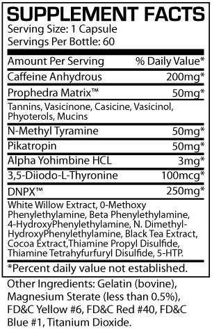 DNPX - ProSupps - Tabela Nutricional