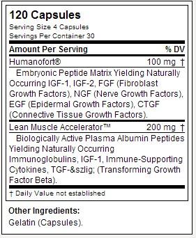 Humanogrowth - Labrada - Tabela Nutricional