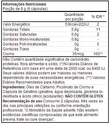 LA TOP - IntegralMédica - Tabela Nutricional