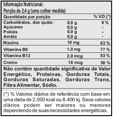 Lipo 6 Black Powder - Brasil - Tabela Nutricional