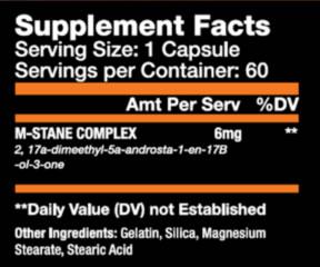 M-Stane Tabela Nutricional
