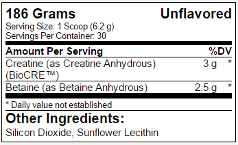 Modern Creatine - USPLabs - Tabela Nutricional