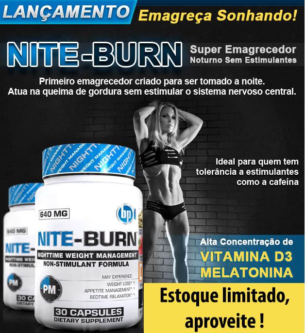 Nite-Burn - BPI Sports - Propaganda - Emagreça Dormindo