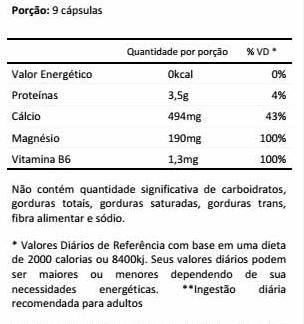 NOTROX - TABELA NUTRICIONAL