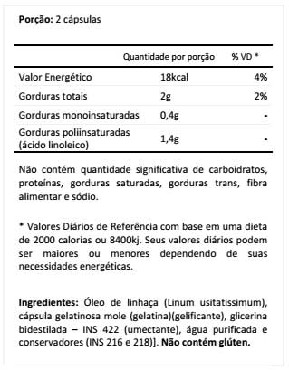 Óleo De Linhaça - Tabela Nutriiconal