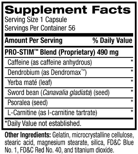 Pro Stim - Tabela Nutricional