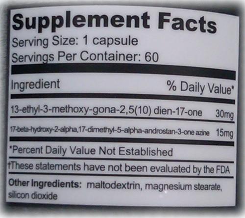 Sledge Dark Cyde - Tabela Nutricional
